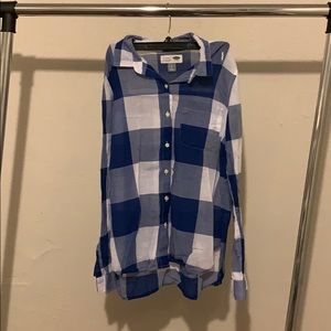 Old Navy Plaid Button-down